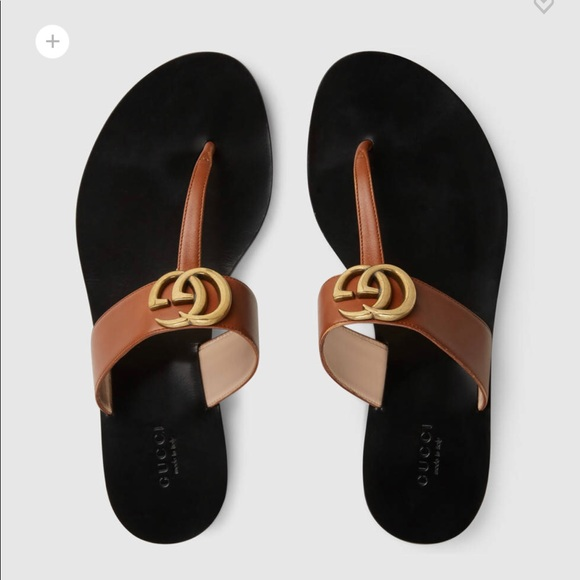 43ca236e2 Gucci Shoes - Like new Gucci brown leather thong sandals